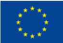 Logo of the European Union: Circle consisting of twelve yellow stars on blue background.